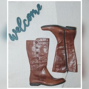 Born Brown Leather Calf High Boots